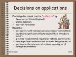 decisions on applications17