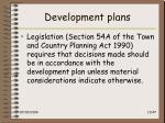 development plans11