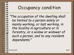 occupancy condition