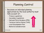 planning control