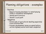 planning obligations examples
