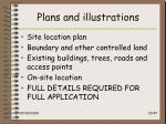 plans and illustrations