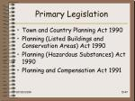 primary legislation
