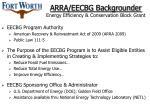 arra eecbg backgrounder energy efficiency conservation block grant