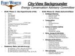 city view backgrounder energy conservation advisory committee