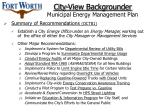 city view backgrounder municipal energy management plan