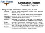 conservation program completed projects