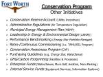 conservation program other initiatives