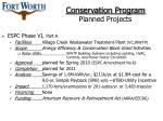 conservation program planned projects22