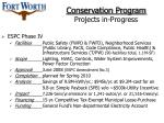 conservation program projects in progress