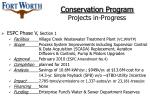 conservation program projects in progress20