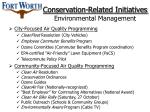 conservation related initiatives environmental management