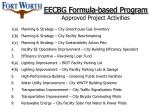 eecbg formula based program approved project activities