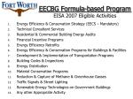 eecbg formula based program eisa 2007 eligible activities