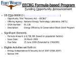 eecbg formula based program f unding o pportunity a nnouncement