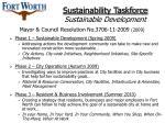 sustainability taskforce sustainable development