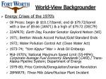 world view backgrounder
