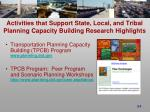 activities that support state local and tribal planning capacity building research highlights