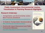 public involvement environmental justice visualization in planning research highlights