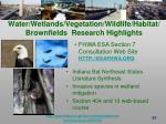 water wetlands vegetation wildlife habitat brownfields research highlights38