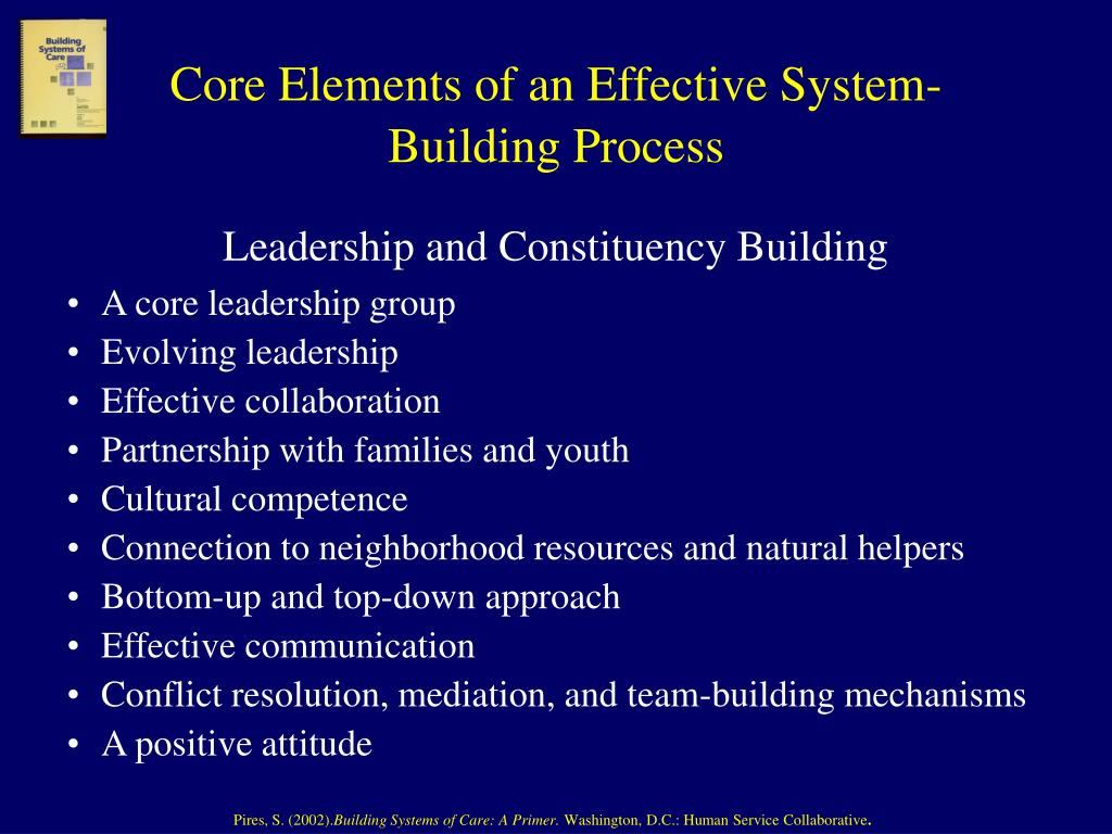 Core Elements of an Effective System-Building Process