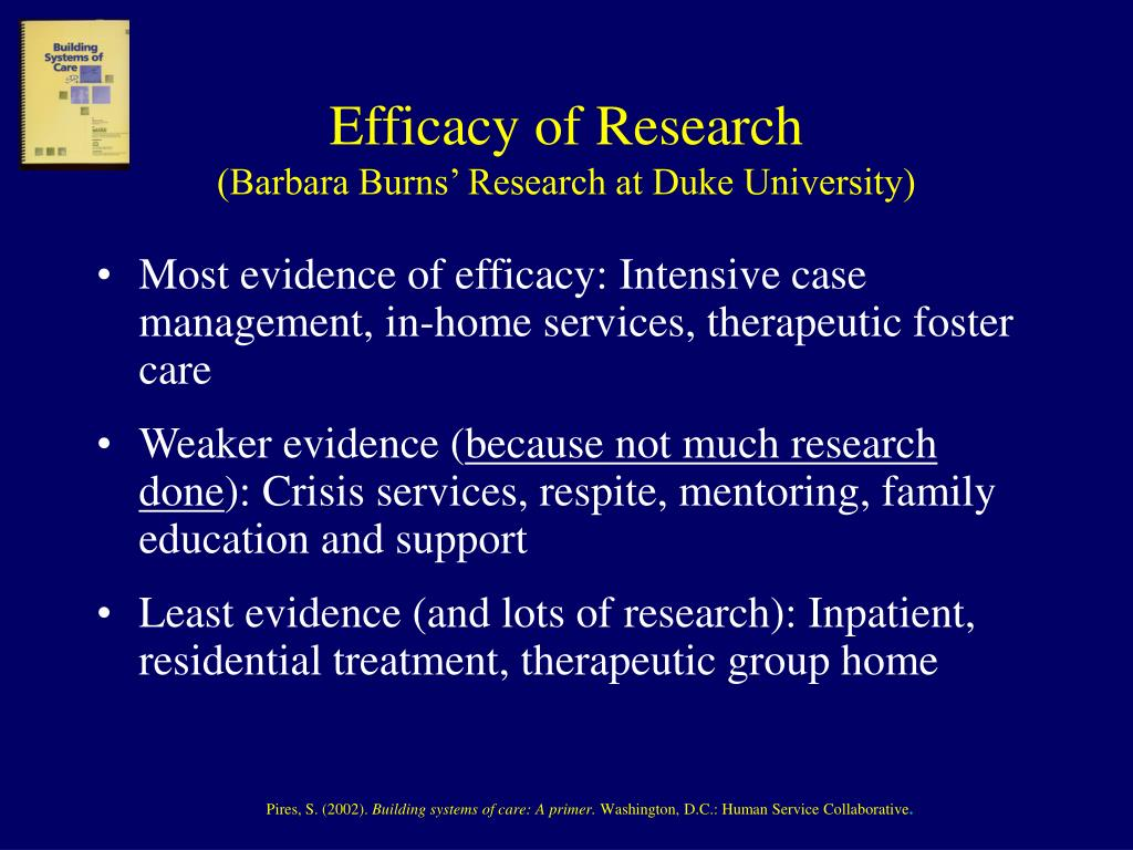 Efficacy of Research