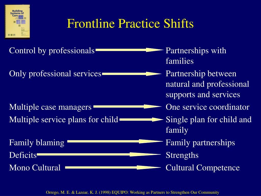 Frontline Practice Shifts