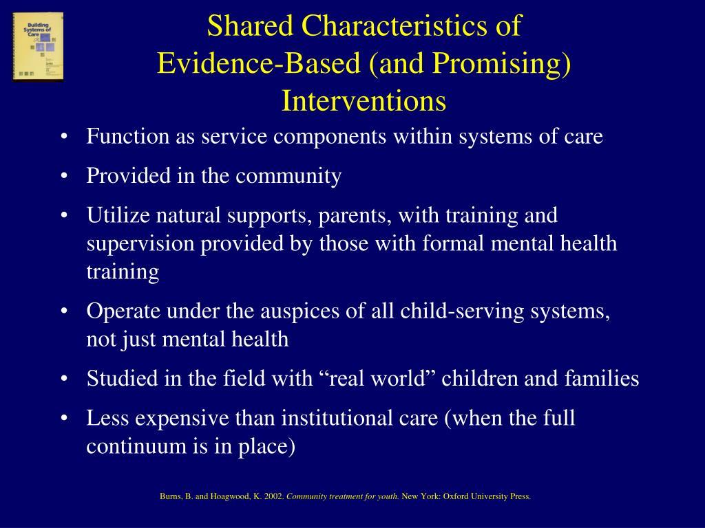 Shared Characteristics of