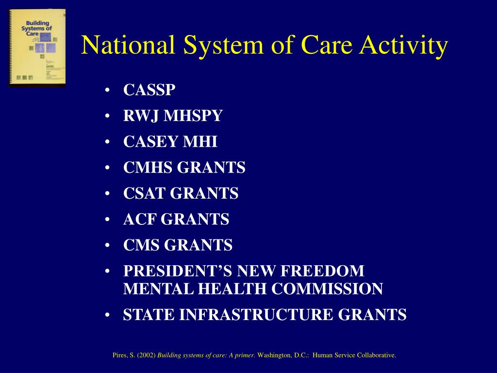 National System of Care Activity
