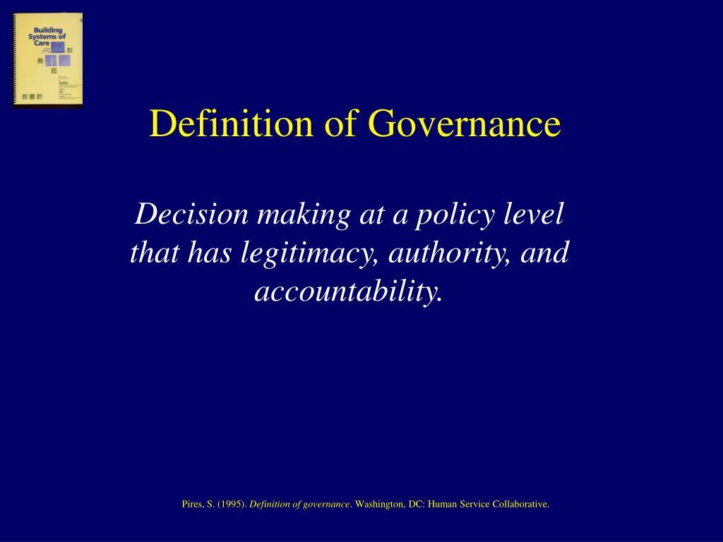 Definition of Governance