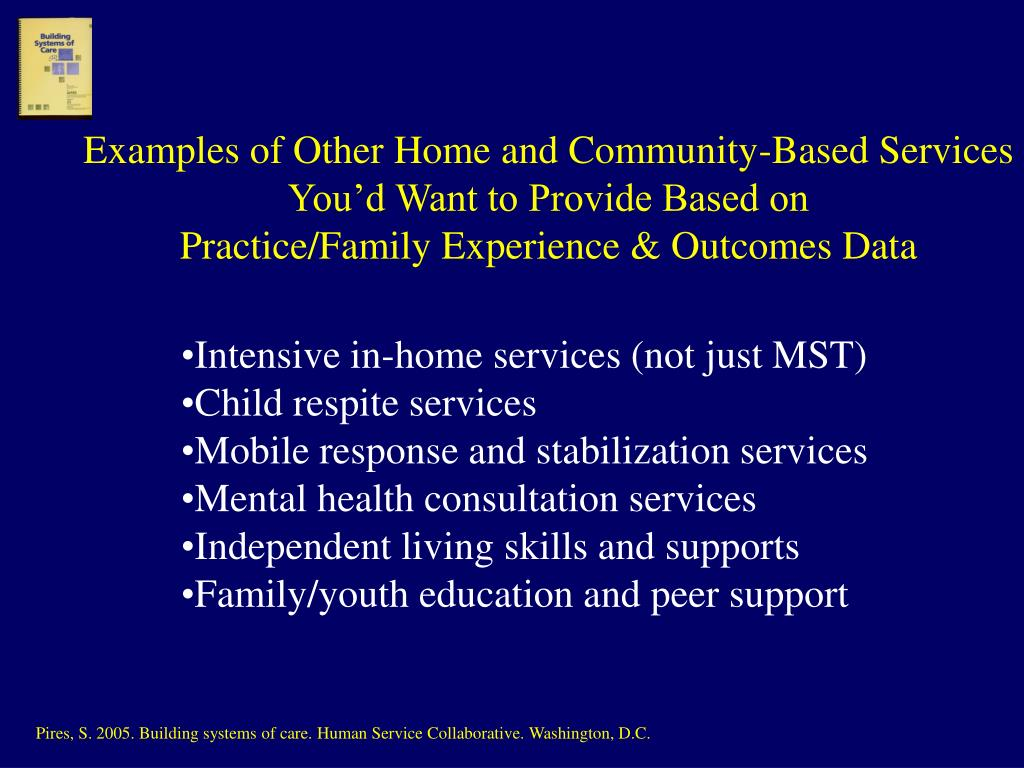 Examples of Other Home and Community-Based Services