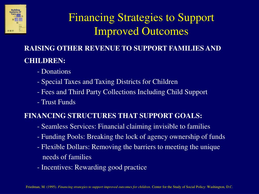 Financing Strategies to Support