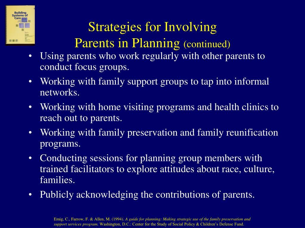 Strategies for Involving