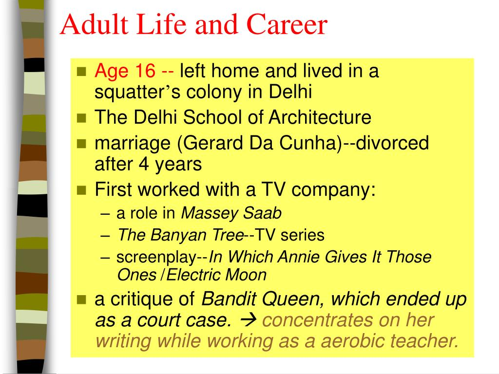 Adult Life and Career