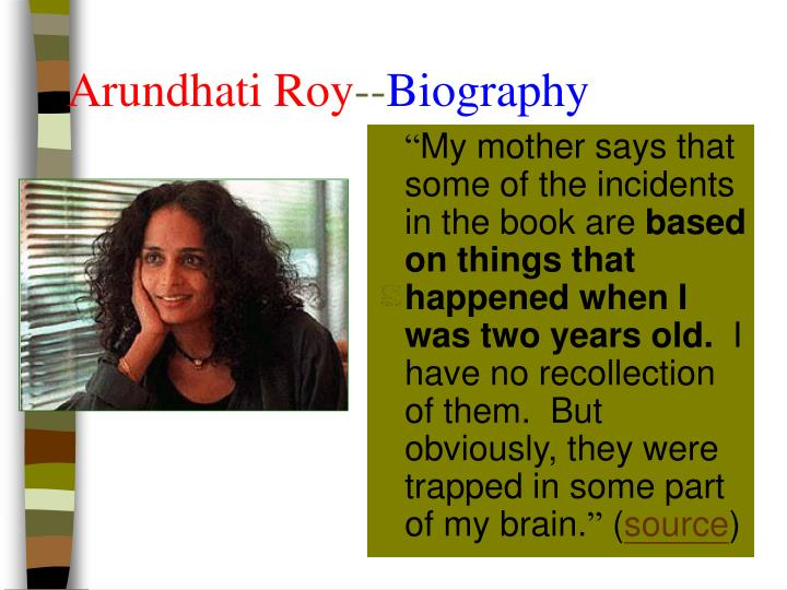 Arundhati roy biography