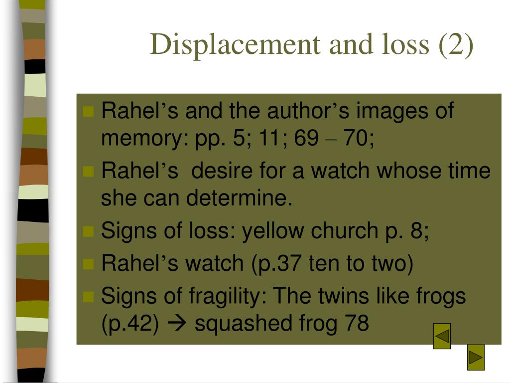 Displacement and loss (2)