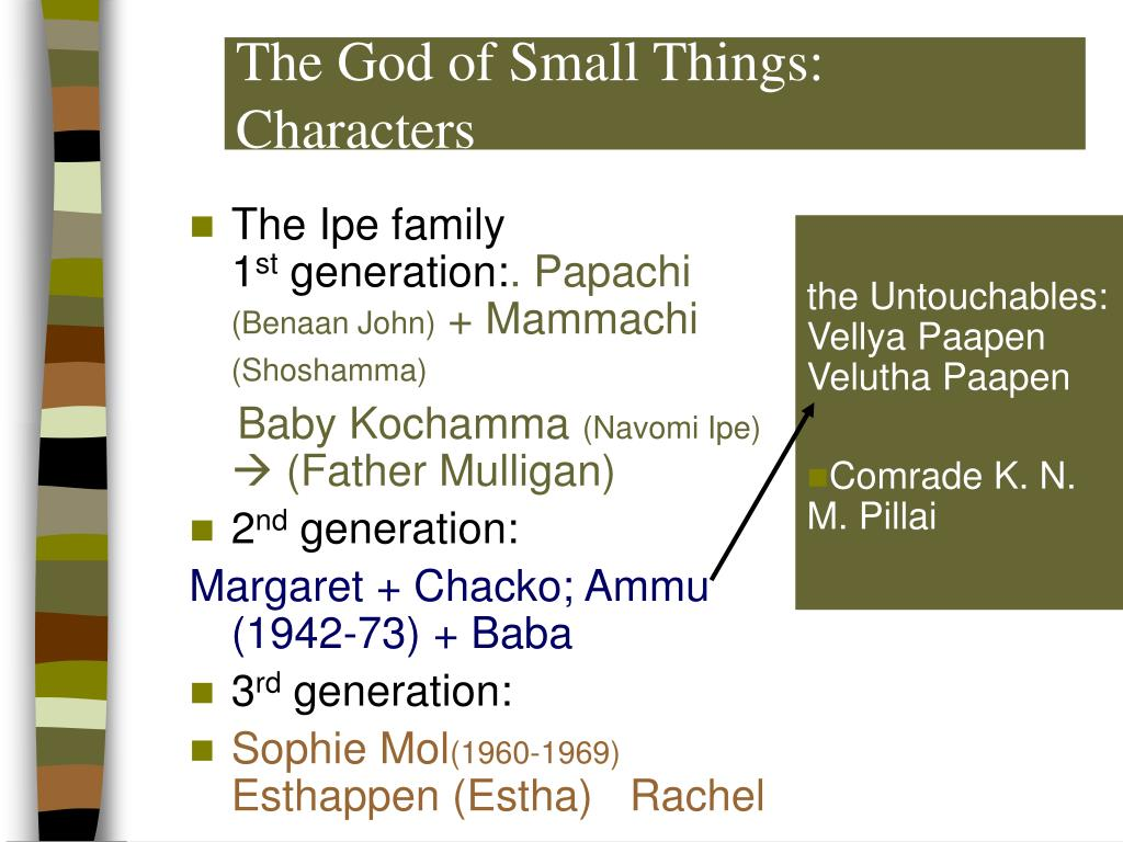 The God of Small Things: Characters