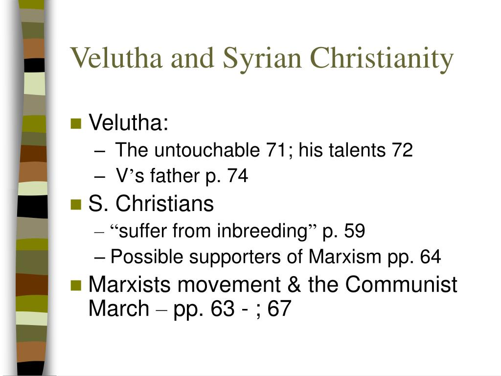 Velutha and Syrian Christianity