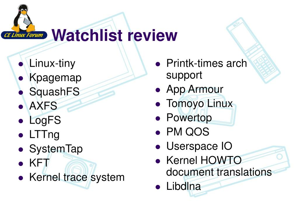 PPT - Status of Embedded Linux & CELF Plenary PowerPoint