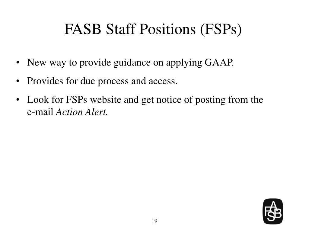 FASB Staff Positions (FSPs)