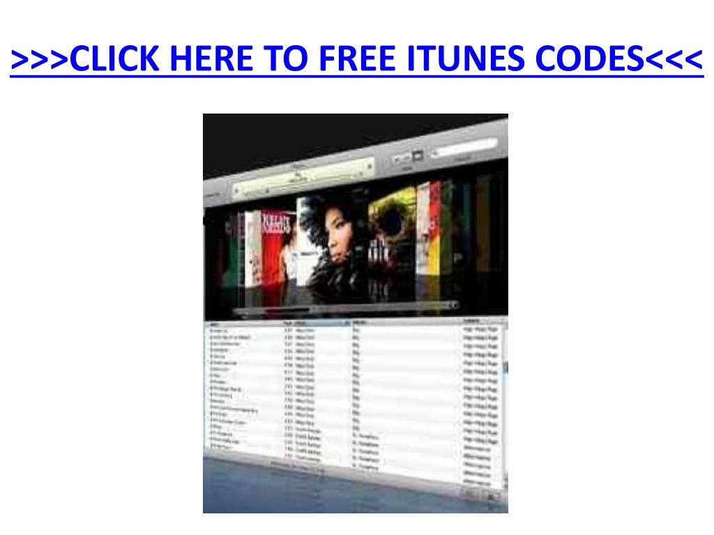 click here to free itunes codes l.