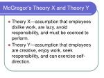 mcgregor s theory x and theory y