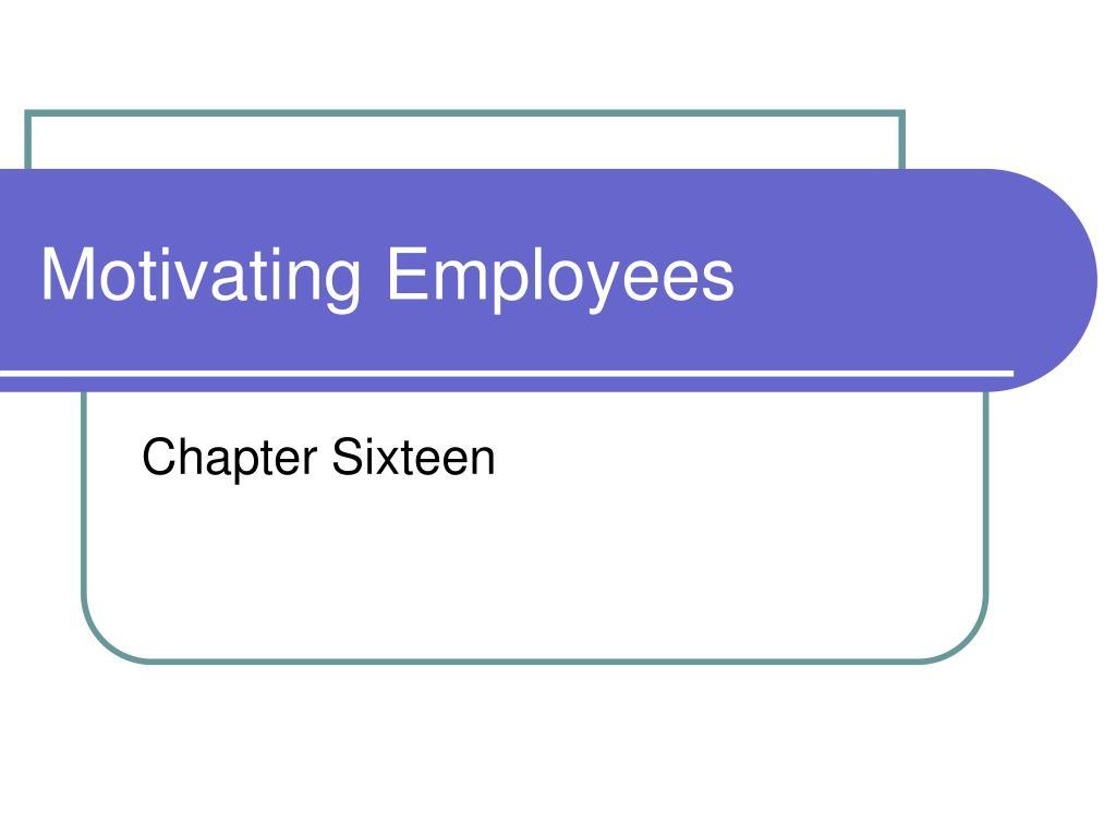 motivating employees l.
