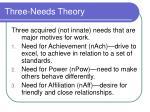 three needs theory17