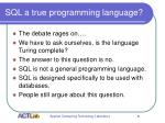 sql a true programming language