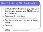 step 2 install mysql administrator