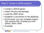 step 5 create a java program