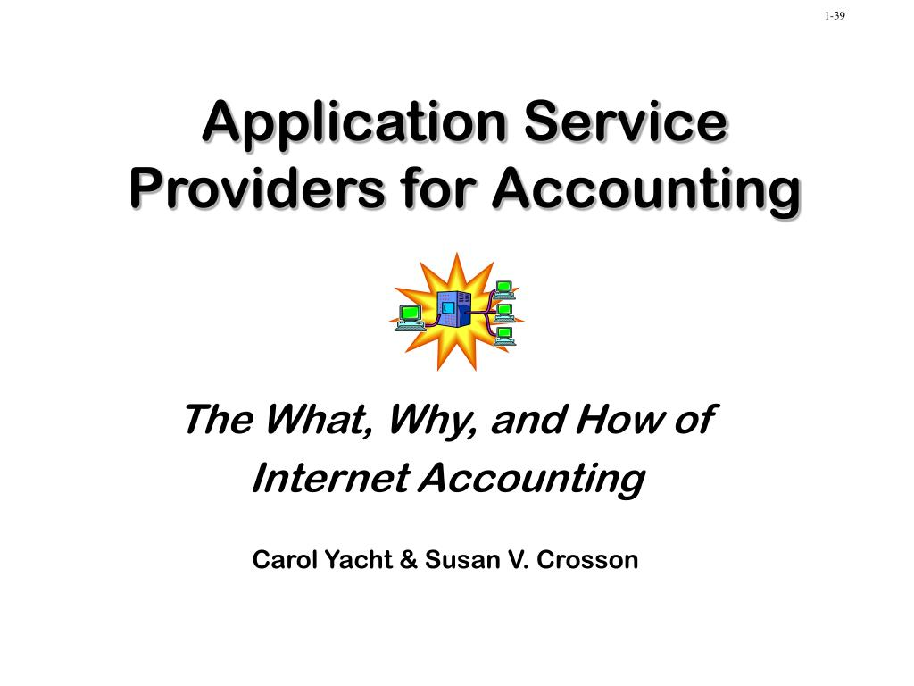 application service providers for accounting l.