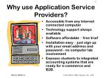 why use application service providers