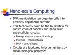 nano scale computing